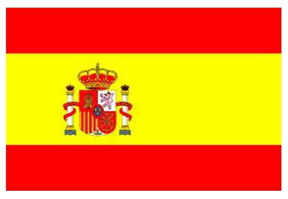 Lyanther Bandera Nacional de España de 5 pies x 3 pies (con Cresta)