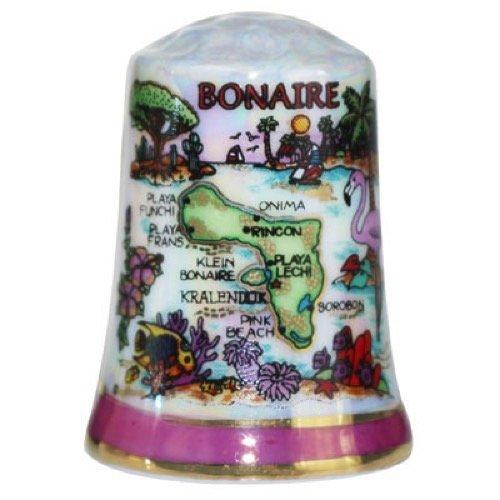 UPC 709818993664, Bonaire Caribbean Map Pearl Souvenir Collectible Thimble agc