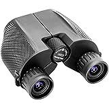 Binoculars for adults 10x25 Binocular Folding Wide Angle Compact Binoculars with Low Light Night Vision Waterproof Zoom Long Range Telescope For Outdoor and Bird