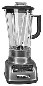 KitchenAid 605599-KSB1575QG KSB1575QG 5-Speed Diamond Blender with 60 oz. Pitcher, Liquid Graphite