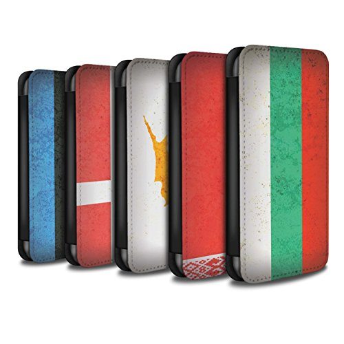 Stuff4 Coque/Etui/Housse Cuir PU Case/Cover pour Apple iPhone X/10 / Pack 14pcs Design / Drapeau Europe Collection