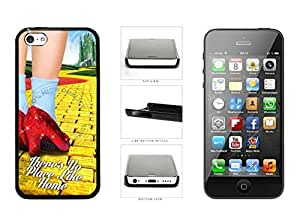 There's No Place Like Home Plastic Phone Case Back Cover iPhone 5c comes with Security Tag and MyPhone Designs(TM) Cleaning Cloth