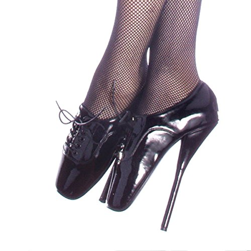 Womens Devious BALLET 12 High-Heel Ankle Strap Pumps Black Pat Nk8B1NOn