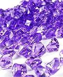 Ice Rock Crystals Treasure Gems for Table Scatters, Vase Fillers, Event, Wedding, Birthday Decoration Favor, Arts & Crafts (1 lb. Bag) by Homeneeds Inc (LAVENDER)