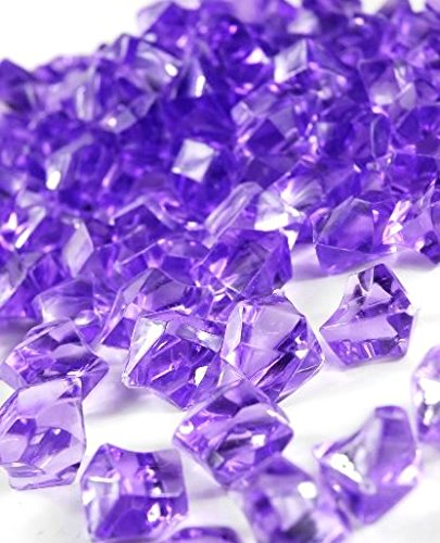 Ice Rock Crystals Treasure Gems for Table Scatters, Vase Fillers, Event, Wedding, Birthday Decoration Favor, Arts & Crafts (1 lb. Bag) by Homeneeds Inc ()