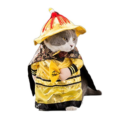 7a8f17d913a33 WeeH Dog Costume Clothes Halloween Cat Costumes Small Animal Funny Pets  Clothing for Doggy Kitty Rabbits Piggy Christmas Gift, Emperor, L - Buy  Online in ...