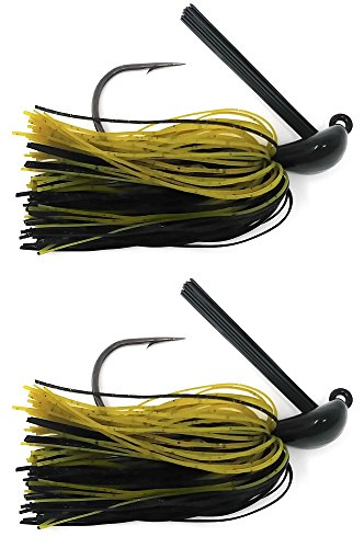 (Reaction Tackle Flipping Jigs 1/2 oz Green Pumpkin/Black )