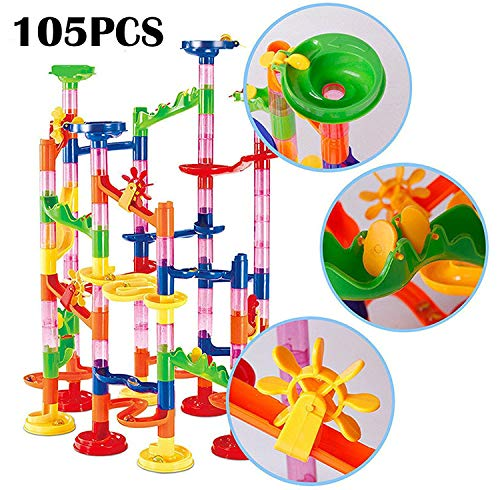 Ball Marble Game - dOvOb Marble Run Construction Building Blocks STEM Toys - Railway Set - Marble Games for Kids As Gifts