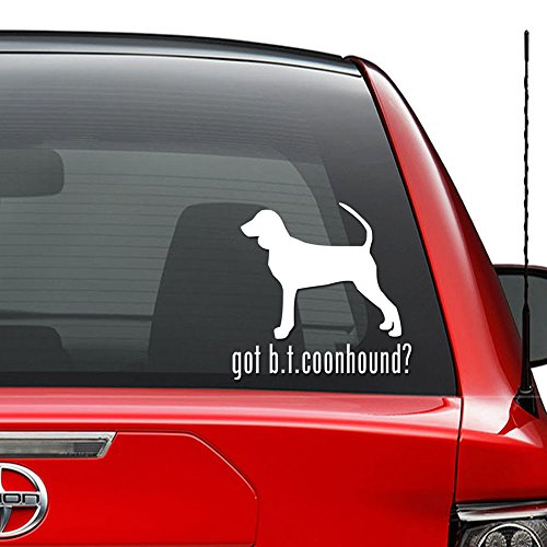 Tan Coonhound Sticker - Got Black Tan Coonhound Dog Pet Vinyl Decal Sticker Car Truck Vehicle Bumper Window Wall Decor Helmet Motorcycle and More - Size (5 Inch / 13 cm Tall) / (Color Gloss Black)