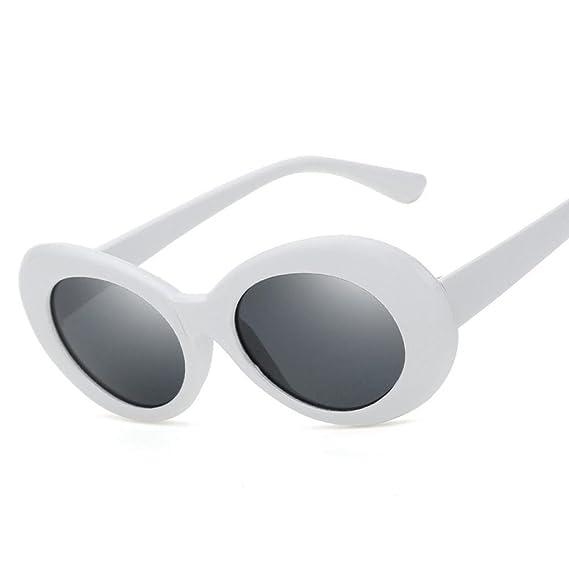 Gusspower Gafas de sol ovaladas pequeñas retro Unisex, Gafas ...