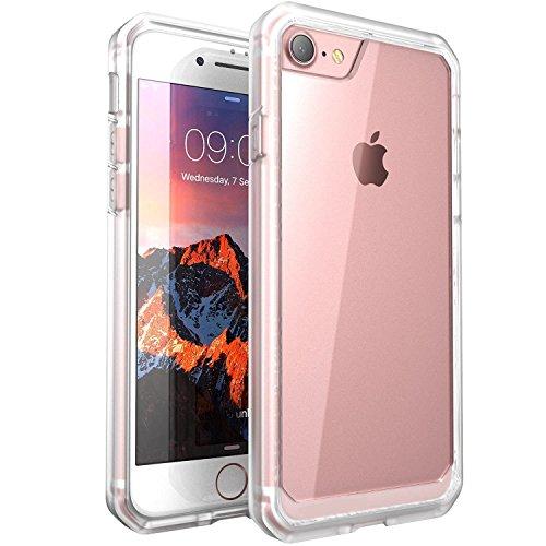 Price comparison product image iPhone 7 Plus Case, ALPHABETT Scratch Resistant Drop Protective SUPER THIN Case for Apple iPhone 7 Plus (White/Frost))