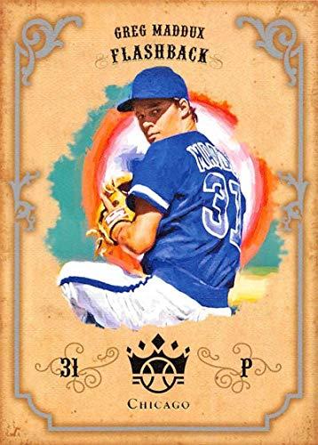2019 Panini Diamond Kings DK Flashbacks #DKF-GM Greg Maddux Chicago Cubs Baseball Card