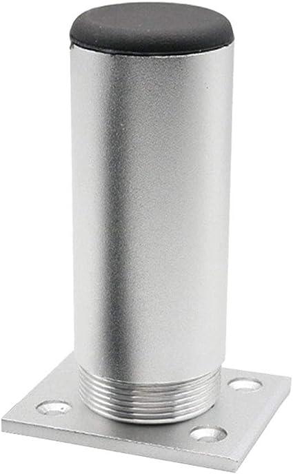 XHXseller - Patas de repuesto para muebles de sofá, patas de sofá, elevadores de muebles, patas de aleación de aluminio con altura ajustable (6 cm, 12 ...