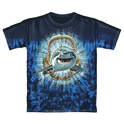 Shark Tie-Dye Youth Tee Shirt (Large - Shark Youth T-shirt