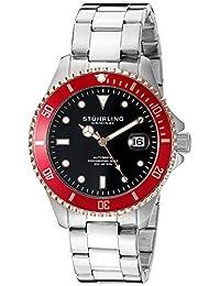 Stuhrling Original Men's 792.04 Aquadiver Analog Display Automatic Self Wind Silver Watch