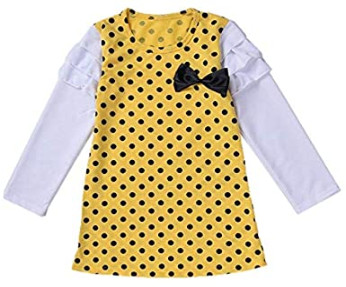 Ragazze Autunno Inverno Abito Chic Manica Lunga Punto donda Principessa Festa Vestito Bambini Bimba Bambino 2-7 Anni