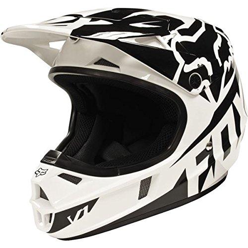 Fox Racing Race Youth V1 Motocross Motorcycle Helmet - Black / Small