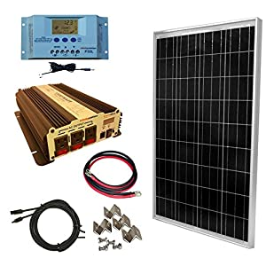 WindyNation-100-Watt-Solar-Panel-Kit-with-1500W-VertaMax-Power-Inverter-for-RV-Boat-Off-Grid-12-Volt-Battery-Systems