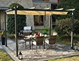 Kozyard Domingo 12'x12' Sun Shade Gazebo Canopy with UV Resistant Fabric and Strong Round Post
