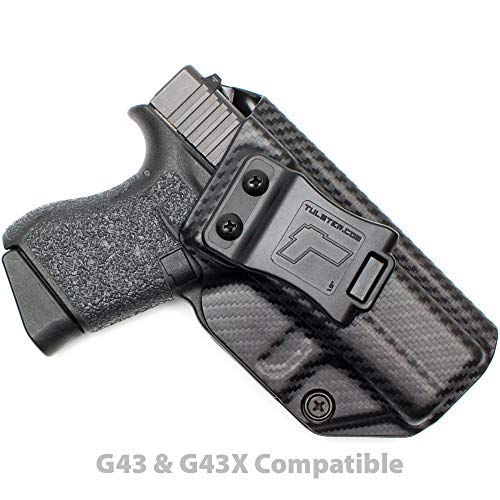 Tulster Glock 43/43X Holster IWB Profile Holster (Black Carbon Fiber - Right Hand)