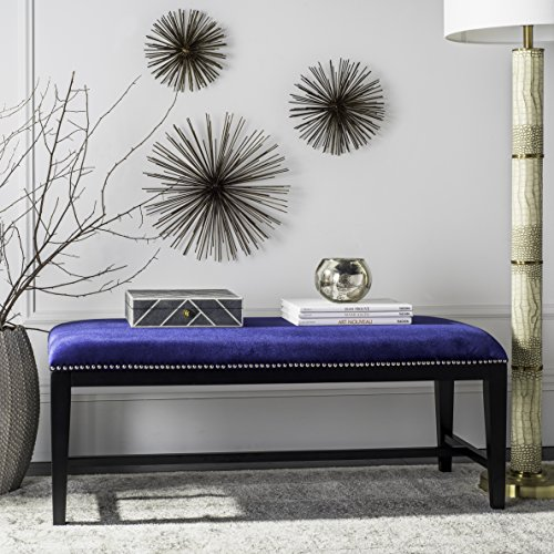 Safavieh Mercer Collection Zambia Bench, Royal Blue