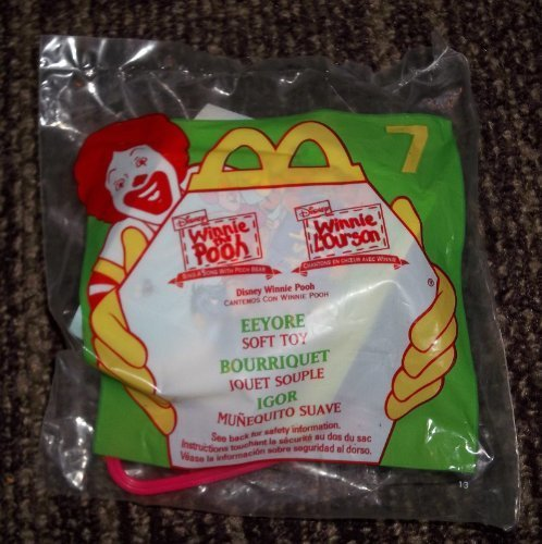 McDonald's Disney Happy Happy Happy Meal Toys 1999 Winnie The Pooh Eeyore Soft Toy Plush Clip  7 by McDonald's 5db654