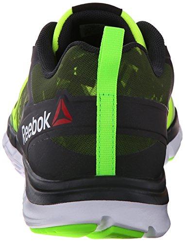Reebok Hommes Zquick Âme Gp Chaussure De Course Plaqué Or / Gravier / Solaire Vert / Blanc / Solaire Jaune