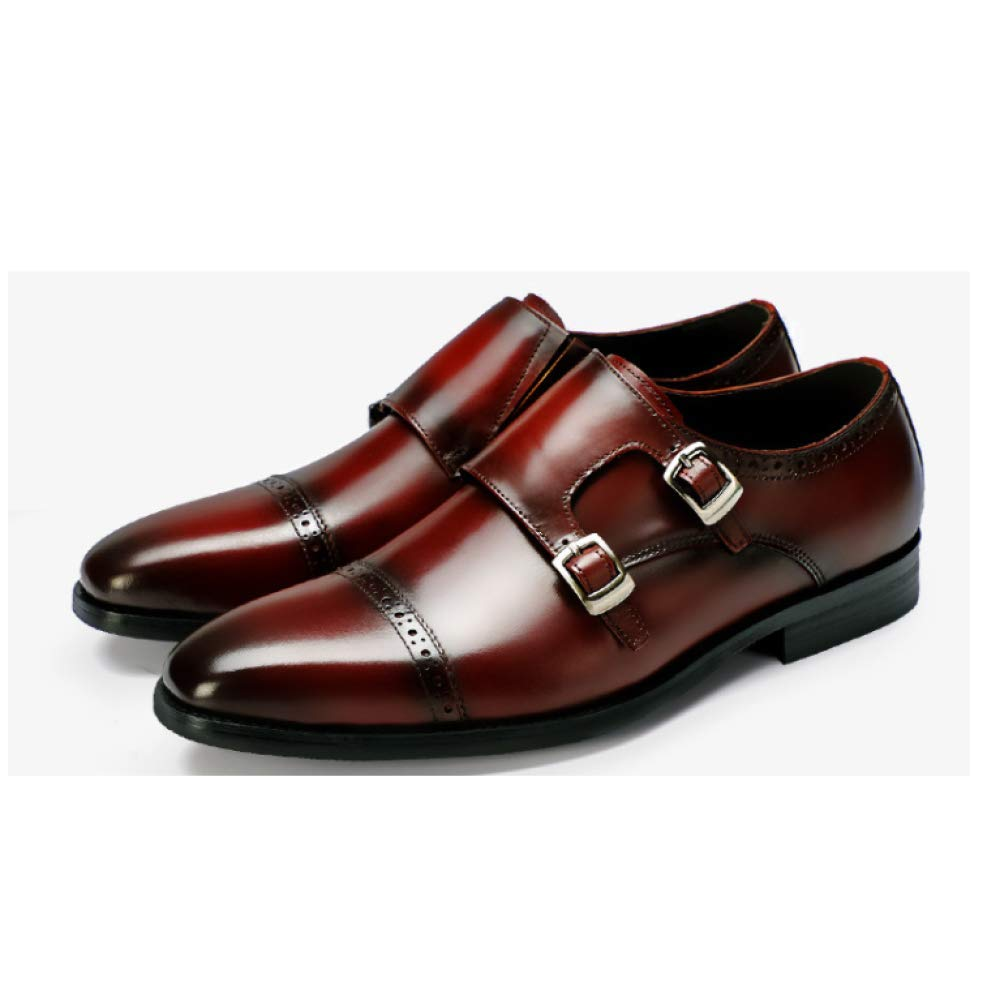 Drei Joint Brock Herren Business Schuhe England Fuß Large Größe Leder Set Fuß England Kleid Schuhes ROTwine c56e14