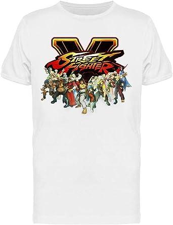 Amazon Com Street Fighter V Characters Tee Men S Capcom Designs Clothing