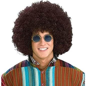 Rasta Jumbo 60 s 70 s Disco Fro Brown Adult Costume Wig (Standard)