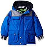 London Fog Baby Toddler Boys' Heavyweight Shirt Pocket Parka Coat, Blue, 2T