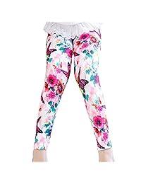 Aivtalk Girls Fall White Cotton Full Length Leggings Butterfly Trousers
