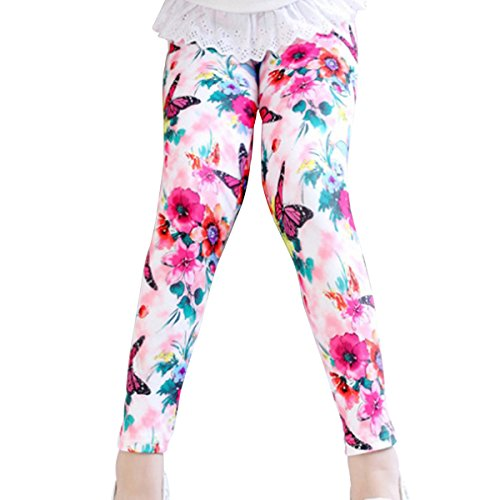 Aivtalk Little Girls Charming Ankle Length Leggings Tight with Butterfly Print For 6 (Charming Butterfly)