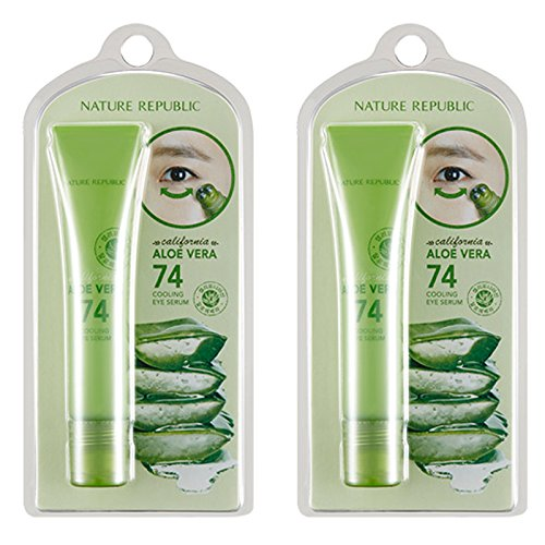 Nature-Republic-California-Aloe-Vera-74-Cooling-Eye-Serum-15-Ml-11-Eye-Skin-Care-Moisture-Wrinkle-Improvement-Massage