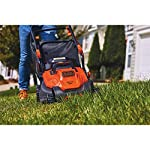BLACK+DECKER Electric Lawn Mower, 10 -Amp, 15-Inch (BEMW472BH) 20 IMPROVED ERGONOMICS: Comfort grip handle makes the lawn mower easy to maneuver BETTER CLIPPING COLLECTION: Our winged blade achieves 30% better clipping collection NO MORE PULL CORDS: Push-button start makes starting the lawn mower a breeze