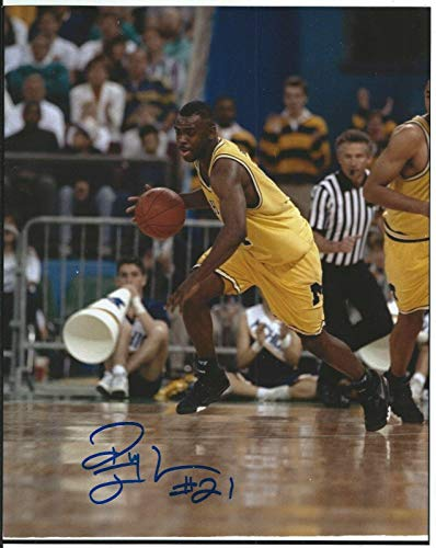 Ray Jackson Autographed Photo - Michigan Wolverines Fab 5 8x10 W proof - Autographed NFL Photos