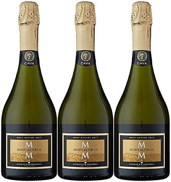 Marqués de la Concordia Reserva De La Familia Brut Millesima Cava - 3 botellas x 750 ml - Total: 2250 ml - 2250 ml: Amazon.es: Alimentación y bebidas