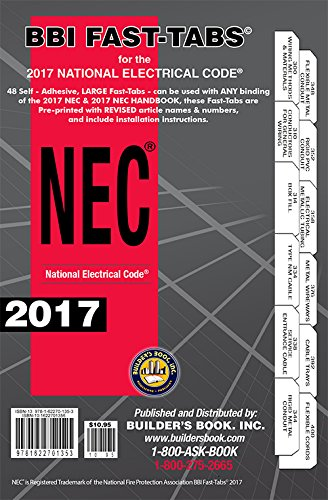 2017 National Electrical Code NEC Softcover Tabs for sale  Delivered anywhere in USA
