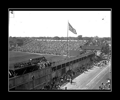 8 x 10 All Wood Framed Photo Detroit Tigers Old Stadium Field