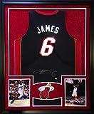Lebron James Framed Jersey Signed UDA COA Autographed Miami Heat Upper Deck