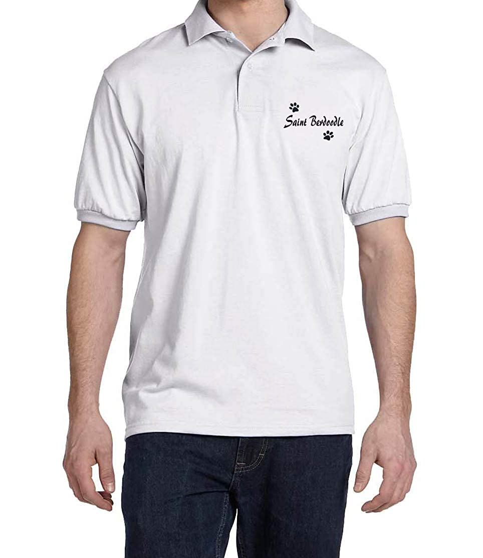 Saint BERDOODLE Dog Paw Puppy Name Breed Polo Shirt Clothes Men Women