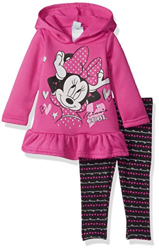 2 Piece Minnie Mouse Fleece Hoodie with Legging, Pink, 12M