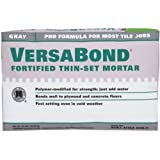 Custom Building Products MTSG50 VersaBond Fortified Thin-Set, 50-Pound, Mortar Grey