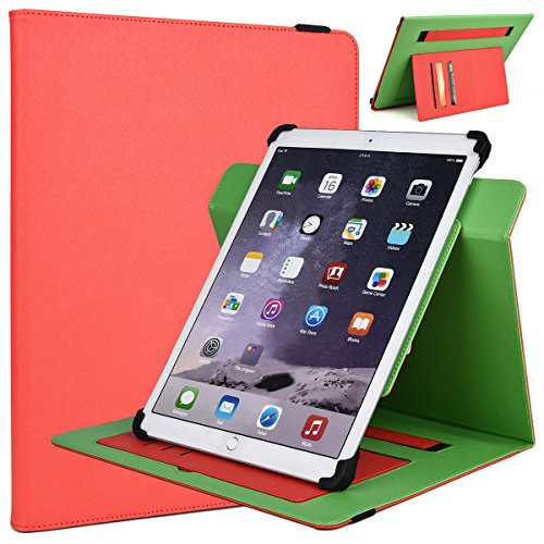 12-inch Tablet Stand Cover Universal Fit for Samsung Galaxy Note Pro 12.2, Galaxy Tab Pro 12.2, (Scarlet Red/Neon Green)