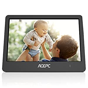 Digital Wifi Photo Frame,ACEPC P1 8 inch Digital Touch-Screen WIFI Cloud Frame with High Resolution LCD Screen and Free 10GB Cloud Storage, Built-in Speaker Slideshow Function for Dispalying Photos