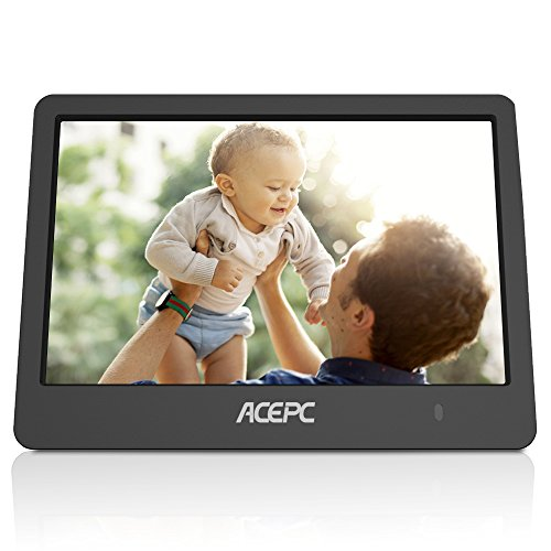 Digital Wifi Photo Frame,ACEPC P1 8 inch Digital Touch-Screen WIFI Cloud Frame with High Resolution LCD Screen and Free 10GB Cloud Storage, Built-in Speaker Slideshow Function for Displaying Photos by ACEPC