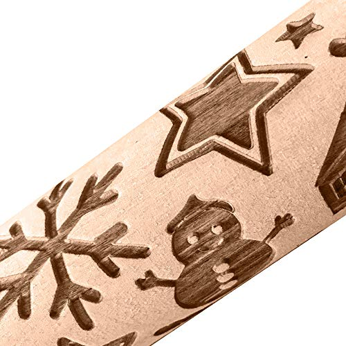Creative Xmas Merry Decoration for Kids Chidren - Christmas Rolling Pin Engraved Carved Wood Embossed Rolling Pin Kitchen Tool,Home & Garden,Kitchen,Dining & Bar from Mjuan