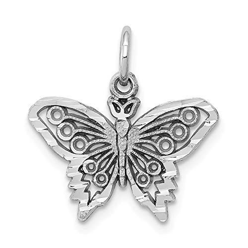10K White Gold BUTTERFLY CHARM
