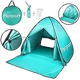 Cheap Fbsport Portable Lightweight Beach Tent ,Automatic Pop Up Sun Shelter Umbrella,Outdoor Cabana Beach Shade with UPF 50+ Sun Protection (cyan)