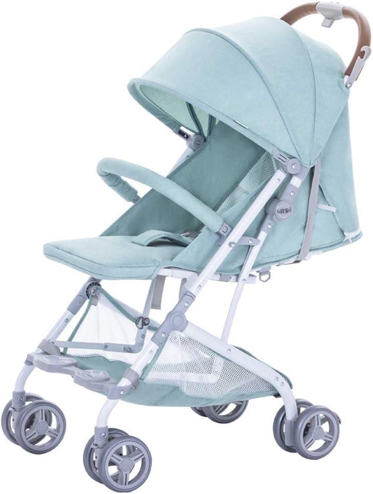 WJY Carro , Comedor Coche Carro médico Comedor Cochecito de bebé Plegable portátil ultraligero Puede sentarse Paraguas reclinable Niño Carro de coche para bebé puede estar en el avión Carro de bebé,V